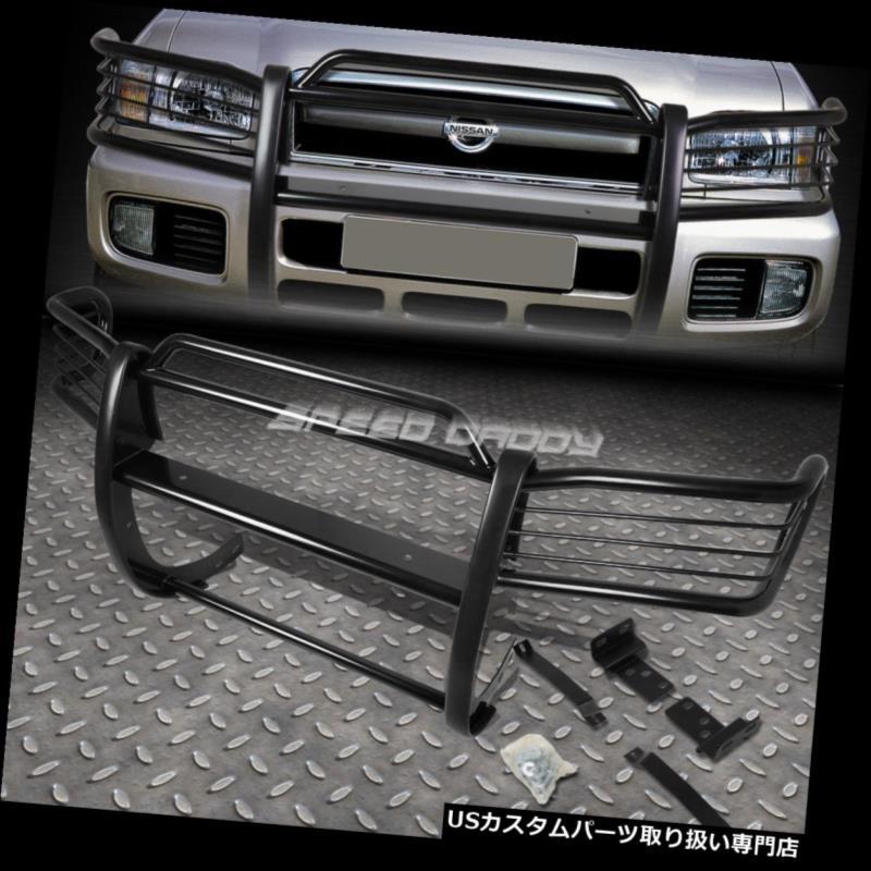 USグリルガード 96-04日産パスファインダーSUVブラックコーティング軟鋼フロントバンパーグリップガード FOR 96-04 NISSAN PATHFINDER SUV BLACK COATED MILD STEEL FRONT BUMPER GRILL GUARD