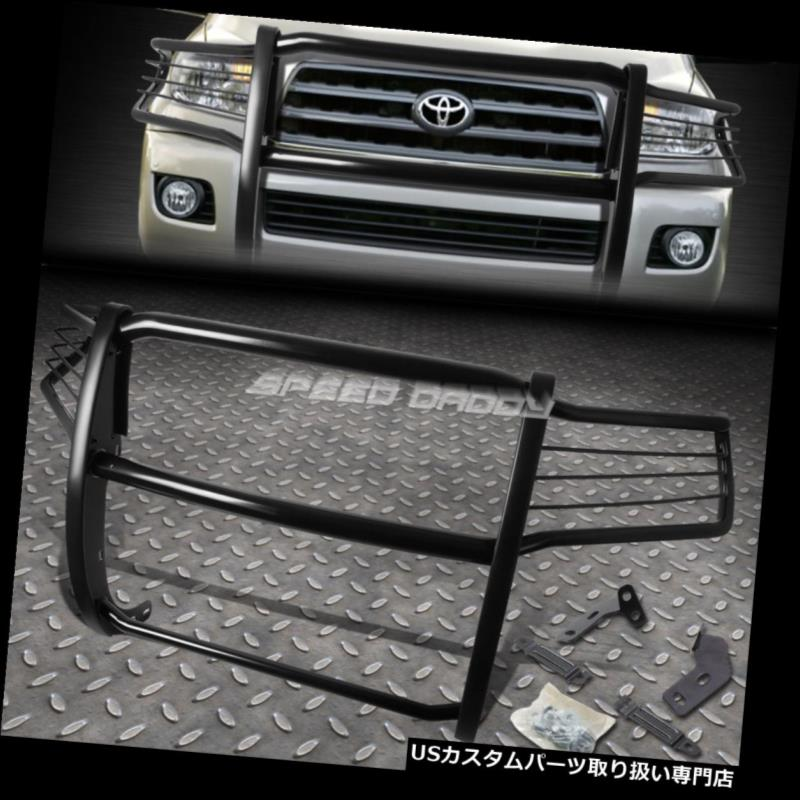 USグリルガード トヨタセクオイアSUVブラックコーティング軟鋼フロントグリルガードフレーム用 FOR 08-16 TOYOTA SEQUOIA SUV BLACK COATED MILD STEEL FRONT GRILL GUARD FLAME