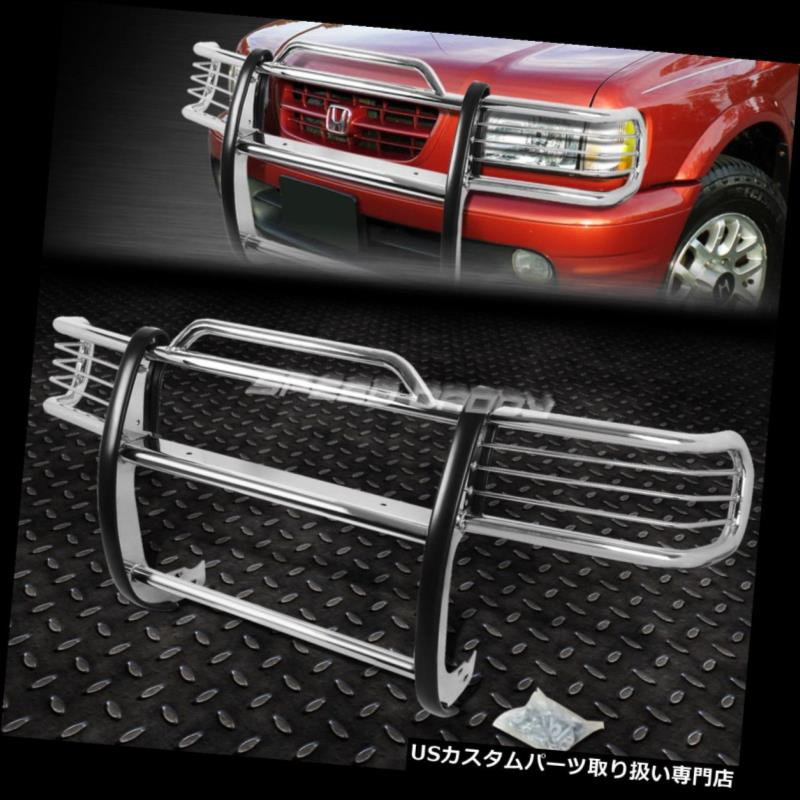 FOR USグリルガード GUARD 98-02パスポート/ロデオスポーツクロムステンレス鋼フロントバンパーグリルガード BUMPER STEEL CHROME GRILL PASSPORT/RODEO 98-02 STAINLESS SPORT FRONT