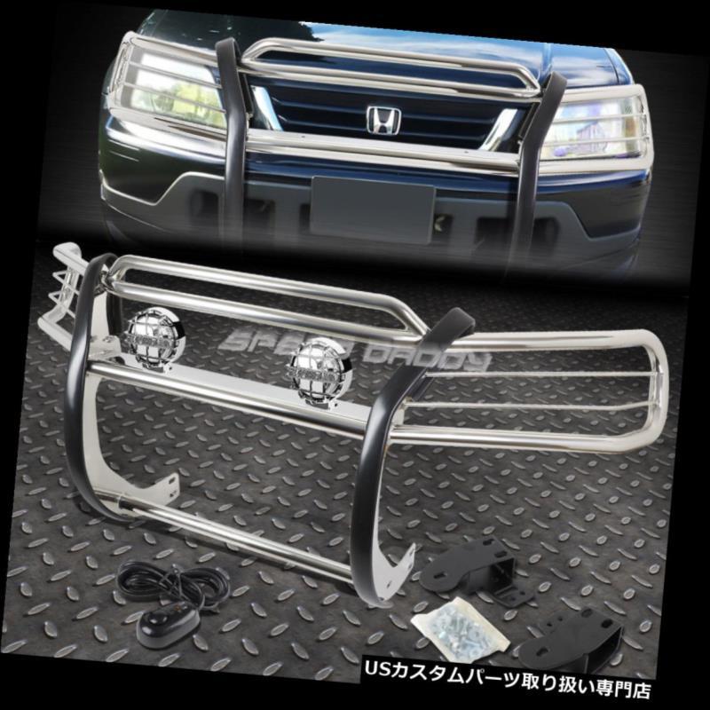 欲しいの USグリルガード クロムブラッシュグリルガード+ 97-01ホンダCRV / CR-V RD SUV用ラウンドクリアフォグライト CHROME BRUSH GRILL GUARD+ROUND CLEAR FOG LIGHT FOR 97-01 HONDA CRV/CR-V RD SUV, Superior Watch a2a413df