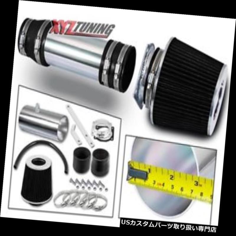USエアインテーク インナーダクト 黒の短いRam吸気インテークキット+ 99-02 Windstar 3.8L V6用フィルター BLACK Short Ram Air Intake Induction Kit + Filter For 99-02 Windstar 3.8L V6