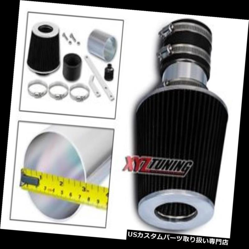 USエアインテーク インナーダクト 92-95 Corrado 2.8L V6のための黒い短いRam空気取り入れ口の誘導キット+フィルター BLACK Short Ram Air Intake Induction Kit + Filter For 92-95 Corrado 2.8L V6