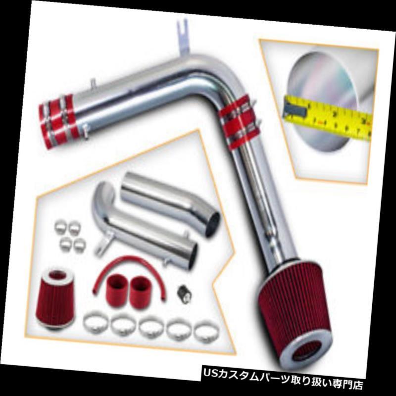 "USエアインテーク インナーダクト 3 """"JDMレッド冷風インテークインダクションキット+ 95-02アコードV6 2.7L / 3.0L用フィルター 3"""" JDM RED Cold Air Intake Induction Kit + Filter For 95-02 Accord V6 2.7L/3.0L"