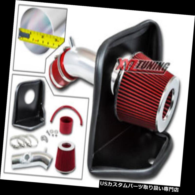Filter Combo RED Compatible For 10-12 Mazda 3 2.5L L4 Rtunes Racing Short Ram Air Intake Kit