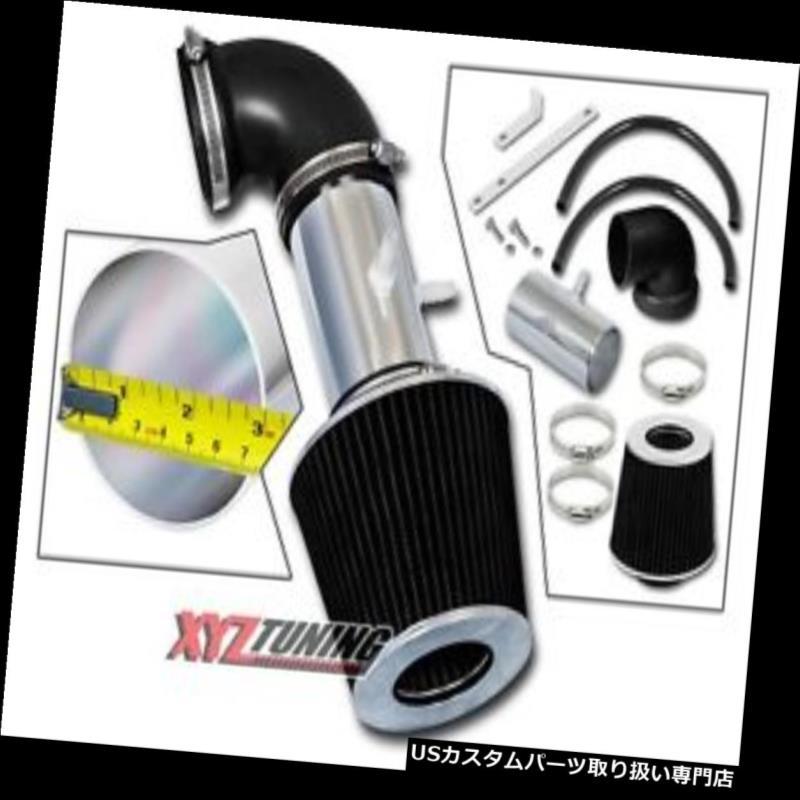 USエアインテーク インナーダクト BLACK 01-04ストラタス/セブリン g 2.7L V6ショートラムエアインテークシステム+フィルター3