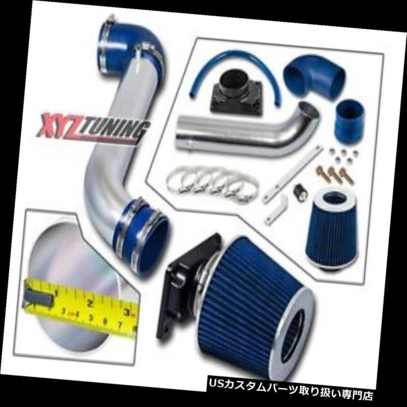 USエアインテーク インナーダクト JDM BLUE 00-05ミツエクリプス2.4 L4 / 3.0 V6吸気インテークキット+フィルター3