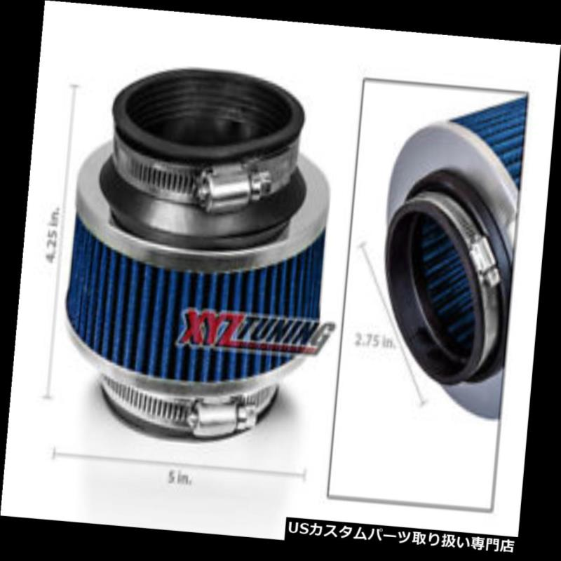 """2.75/"""" 2.75 Inches Cold Air Intake Bypass Valve Air Filter 70 mm BLUE Pontiac"""