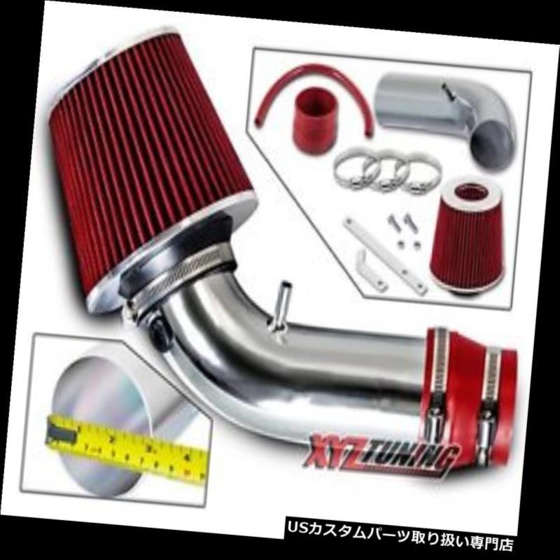 USエアインテーク インナーダクト 99-03の追跡者2.5L V6のための赤い短いRamの空気吸入の誘導キット+フィルター RED Short Ram Air Intake Induction Kit + Filter For 99-03 Tracker 2.5L V6