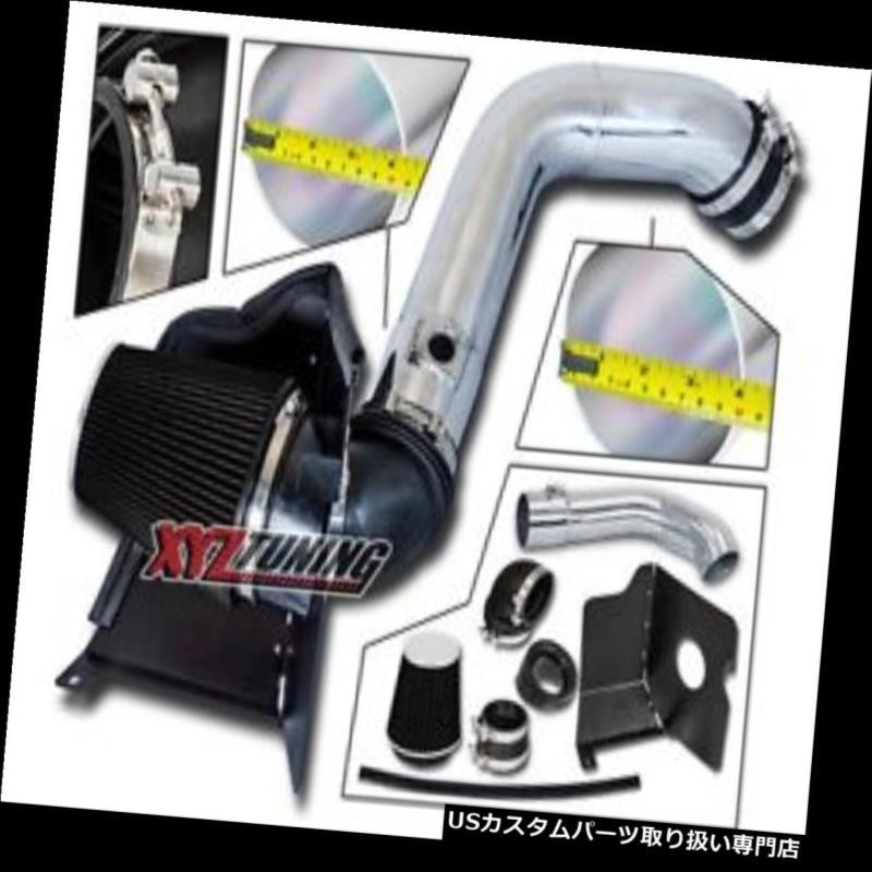 USエアインテーク インナーダクト 黒いヒートシールド04-05シエラ6.6Lターボディーゼルのための冷たい空気取り入れ口+フィルター BLACK Heat Shield Cold Air Intake + Filter For 04-05 Sierra 6.6L Turbo Diesel