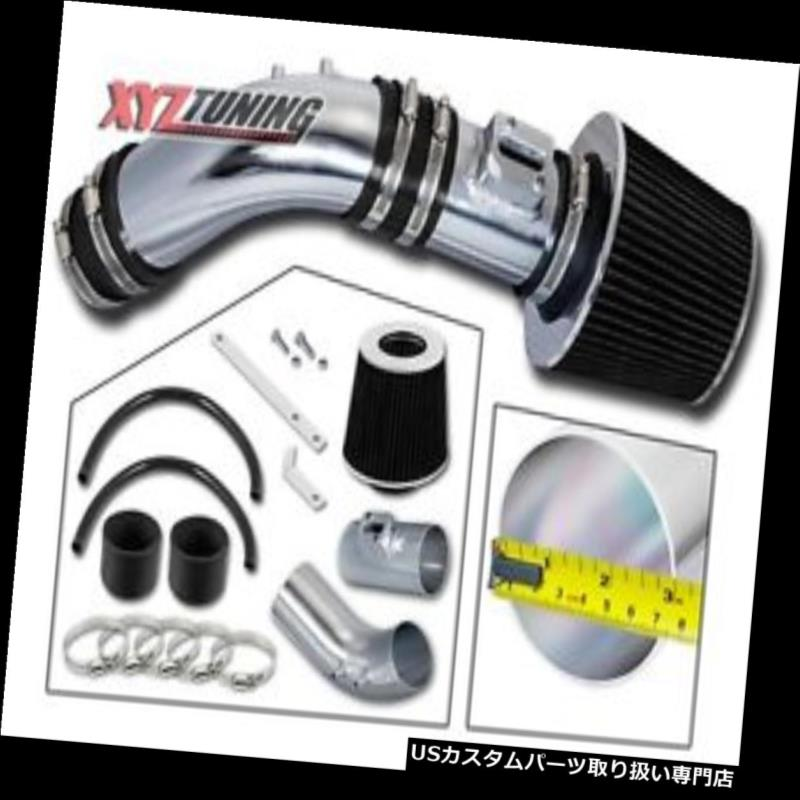 USエアインテーク インナーダクト ブラックショートラム空気吸入誘導キット+ 04-07アコード2.4L L4 SULEV用フィルター BLACK Short Ram Air Intake Induction Kit + Filter For 04-07 Accord 2.4L L4 SULEV