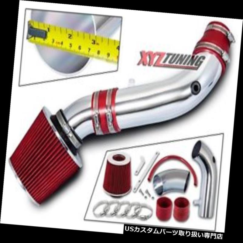 USエアインテーク インナーダクト 07-11ラングラー3.8L V6のための赤い短いラム空気取り入れ口の誘導キット+フィルター RED Short Ram Air Intake Induction Kit + Filter For 07-11 Wrangler 3.8L V6