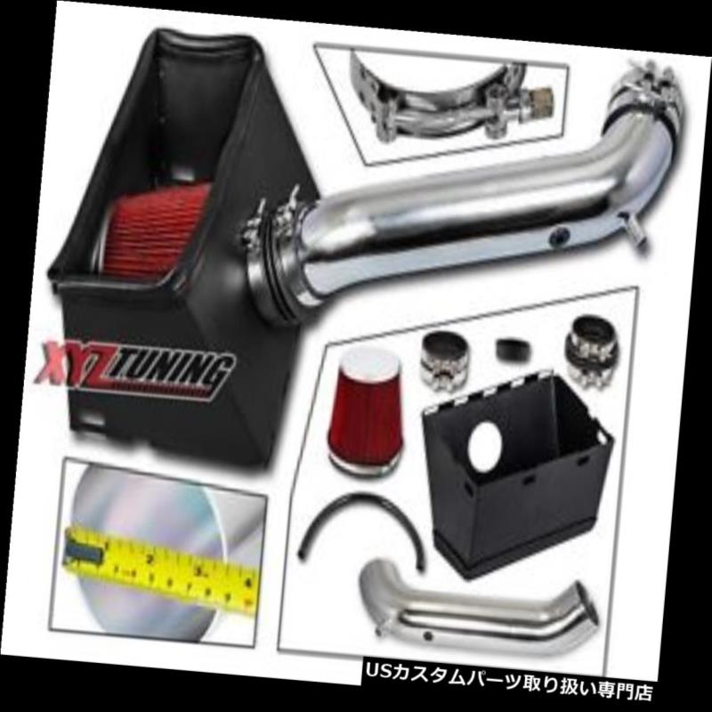 USエアインテーク インナーダクト 02-08ラム1500/2500 4.7L / 5.7L V8のための赤い熱シールド冷気取り入れ口+フィルター RED Heat Shield Cold Air Intake + Filter For 02-08 Ram 1500/2500 4.7L/5.7L V8