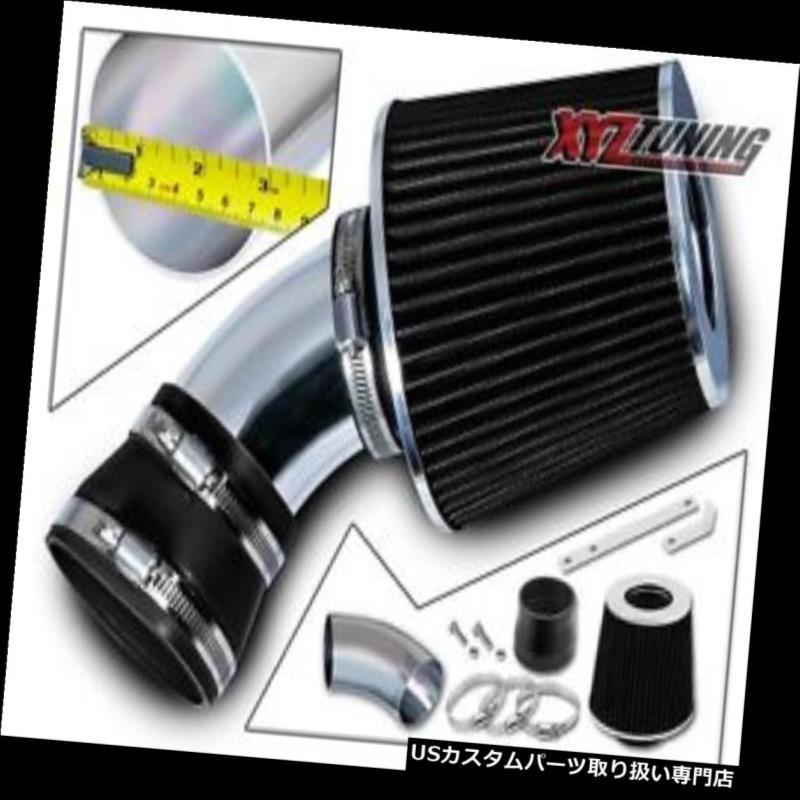 USエアインテーク インナーダクト 黒い短いRam吸気インテークキット+ 06-07 Malibu 3.9L V6用フィルター BLACK Short Ram Air Intake Induction Kit + Filter For 06-07 Malibu 3.9L V6