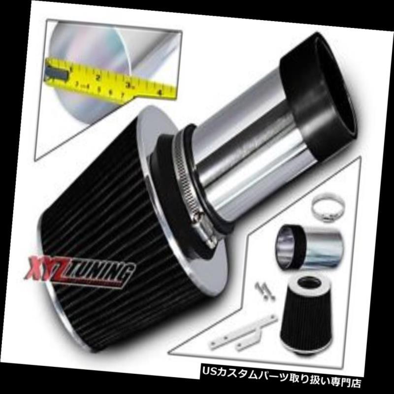 USエアインテーク インナーダクト 黒い短いRam吸気インテークキット+ 93-97ビジョン3.3L / 3.5L V6用フィルター BLACK Short Ram Air Intake Induction Kit + Filter For 93-97 Vision 3.3L/3.5L V6