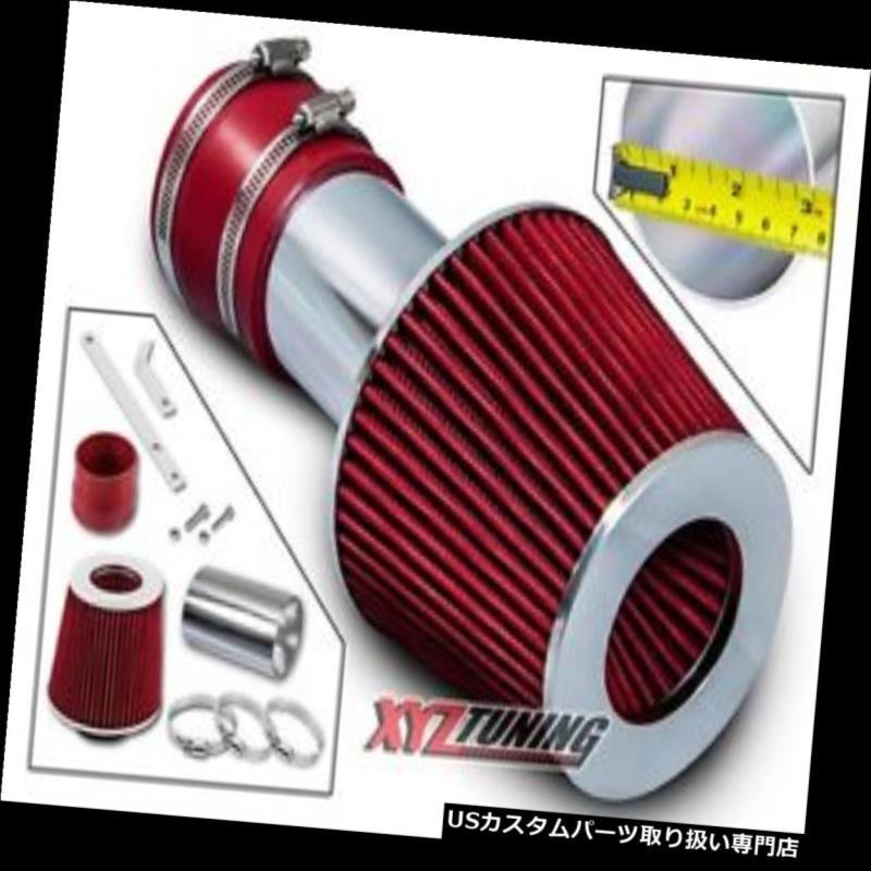 USエアインテーク インナーダクト 00-03グランプリの3.4L V6のための赤い短いRam吸気インテークキット+フィルター RED Short Ram Air Intake Induction Kit + Filter For 00-03 Grand Prix 3.4L V6