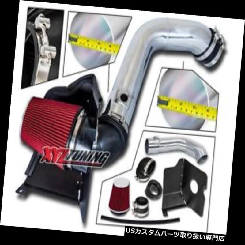 USエアインテーク インナーダクト 04-05シルバラード6.6Lターボディーゼルのための赤い熱シールド冷気取り入れ口+フィルター RED Heat Shield Cold Air Intake + Filter For 04-05 Silverado 6.6L Turbo Diesel
