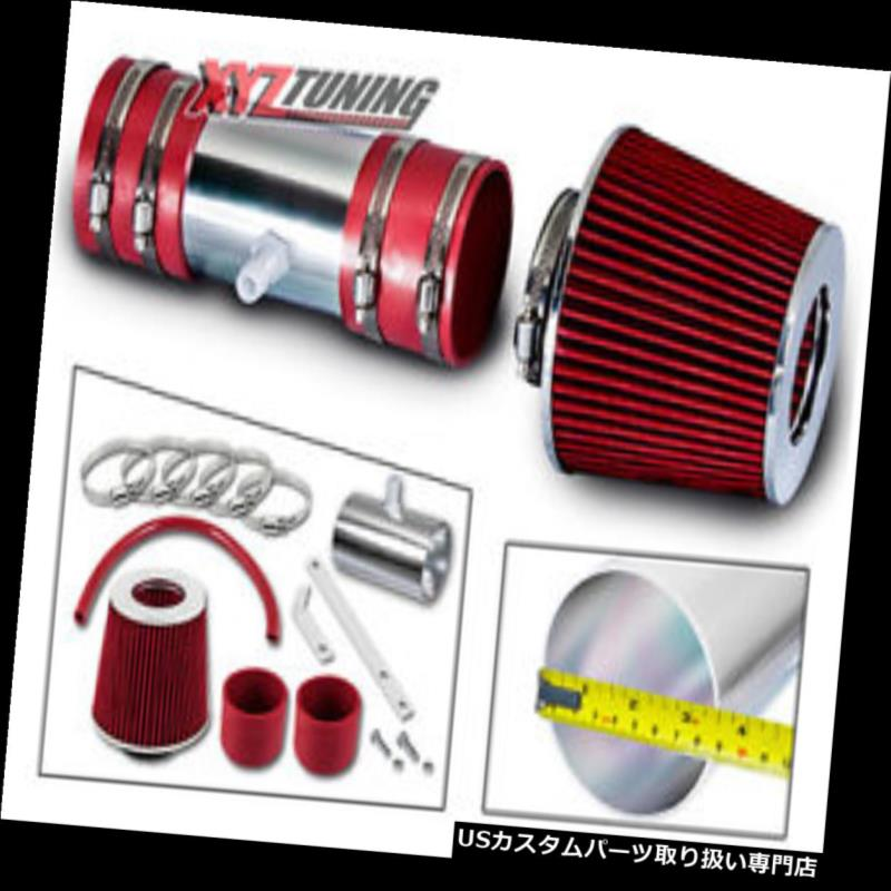 USエアインテーク インナーダクト 09-11トラバース3.6L V6のための赤い短いRam空気取り入れ口の誘導キット+フィルター RED Short Ram Air Intake Induction Kit + Filter For 09-11 Traverse 3.6L V6