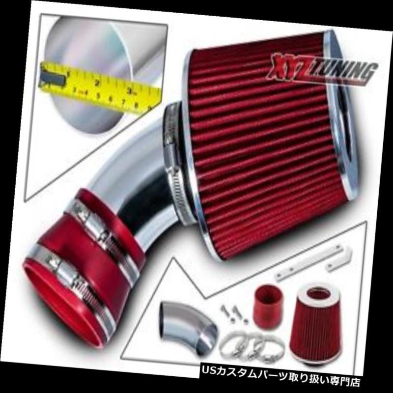 USエアインテーク インナーダクト 06-07 Malibu 3.9L V6のための赤い短いRam空気取り入れ口の誘導キット+フィルター RED Short Ram Air Intake Induction Kit + Filter For 06-07 Malibu 3.9L V6