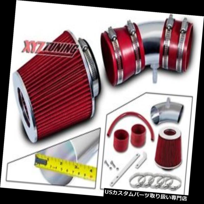 USエアインテーク インナーダクト 05-08 Equinox 3.4L V6のための赤い短いRam空気取り入れ口の誘導キット+フィルター RED Short Ram Air Intake Induction Kit + Filter For 05-08 Equinox 3.4L V6