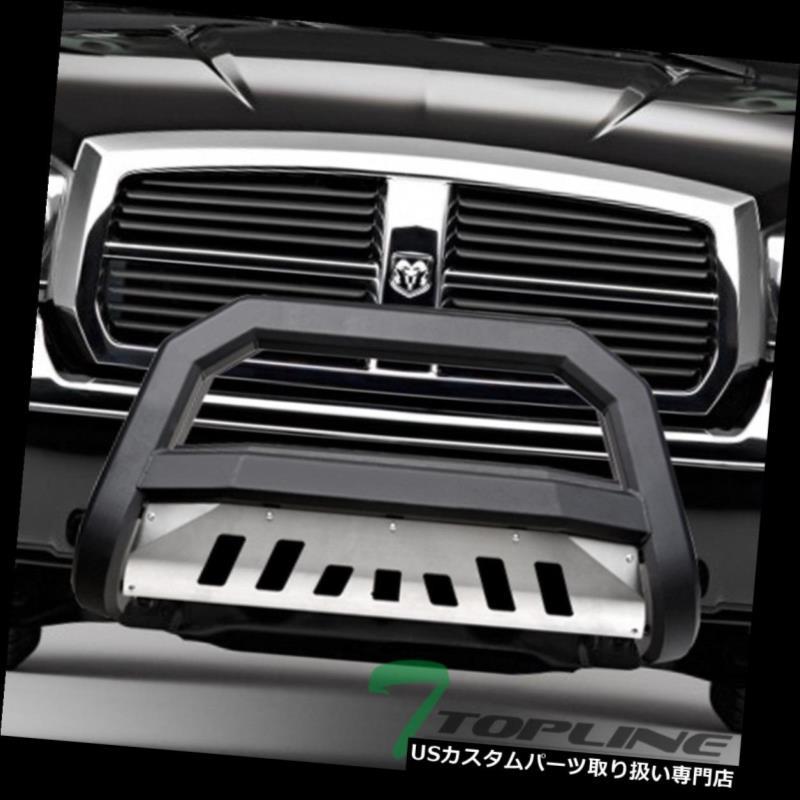 USグリルガード Topline 746756365030 AVTブルバーグリルガード - マットブラック/ブラシアルミ Topline 746756365030 AVT Bull Bar Grille Guard - Matte Black/Brush Aluminum
