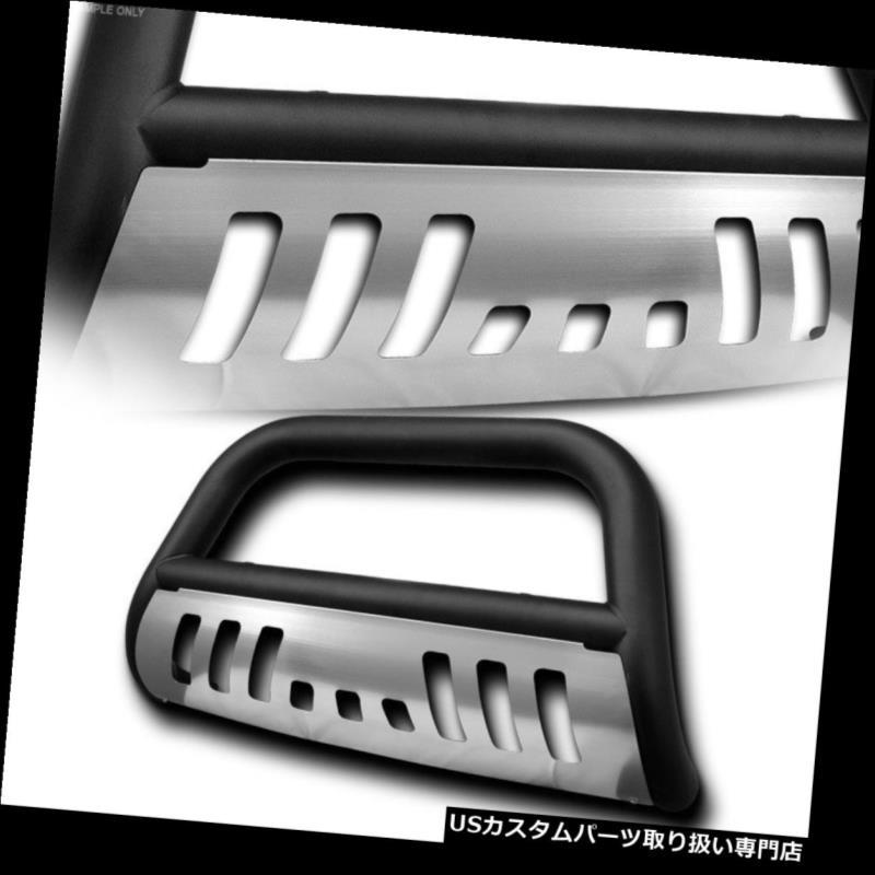 USグリルガード マットブラックブルバープッシュバンパーグリルグリルガード+ 02-05ラム1500のためのSSスキッド Matte Black Bull Bar Push Bumper Grill Grille Guard+SS Skid For 02-05 Ram 1500