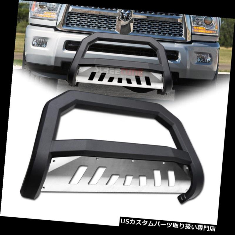 "Black 3/""Bull//Push Bar Brush Grille Guard for 07-10 Silverado//Sierra 2500//3500 HD"
