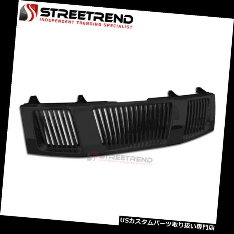 グリルガード 04-07タイタン/アルマダブラック垂直フロントフードバンパーグリルグリルガードABS For 04-07 Titan/Armada Black Vertical Front Hood Bumper Grill Grille Guard ABS