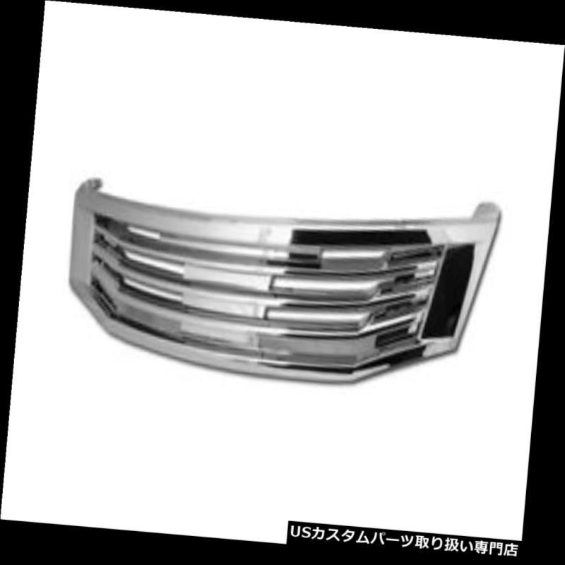 グリルガード 08-10用ホンダアコードセダンクロームMU水平フロントフードバンパーグリルグリル For 08-10 Honda Accord Sedan Chrome MU Horizontal Front Hood Bumper Grill Grille