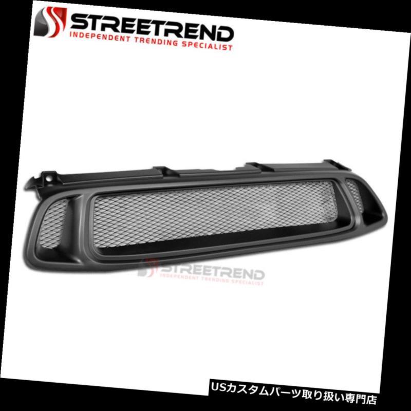 グリルガード 04-05スバルインプレッサマットブラックアルミメッシュフロントバンパーグリルグリルABS用 For 04-05 Subaru Impreza Matte Black Aluminum Mesh Front Bumper Grill Grille ABS