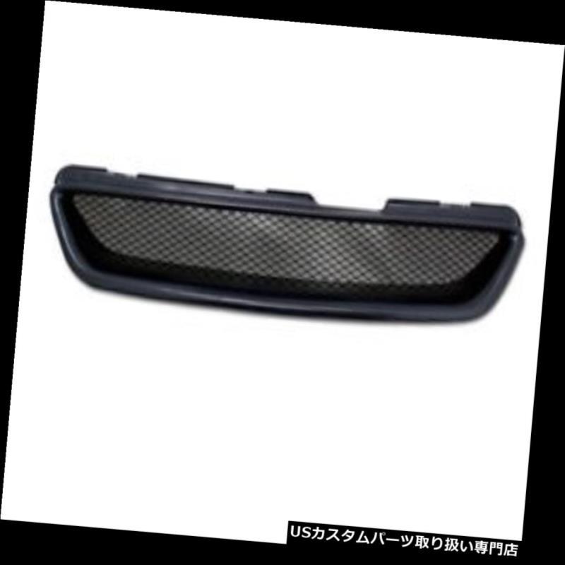 グリルガード 98-02 Accord 2D / 2Dr用ブラックアルミメッシュフロントフードバンパーグリルグリルガード For 98-02 Accord 2D/2Dr Black Aluminum Mesh Front Hood Bumper Grill Grille Guard