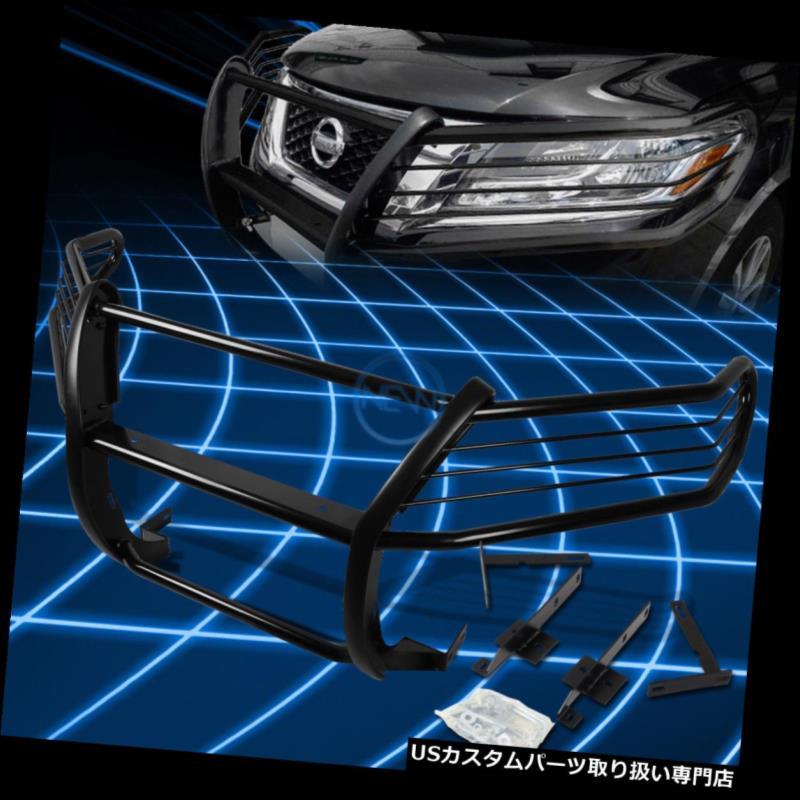 グリルガード 2013-2016日産パスファインダーR52用ブラックブラシバンパープロテクターグリルガード Black Brush Bumper Protector Grille Guard for 2013-2016 Nissan Pathfinder R52