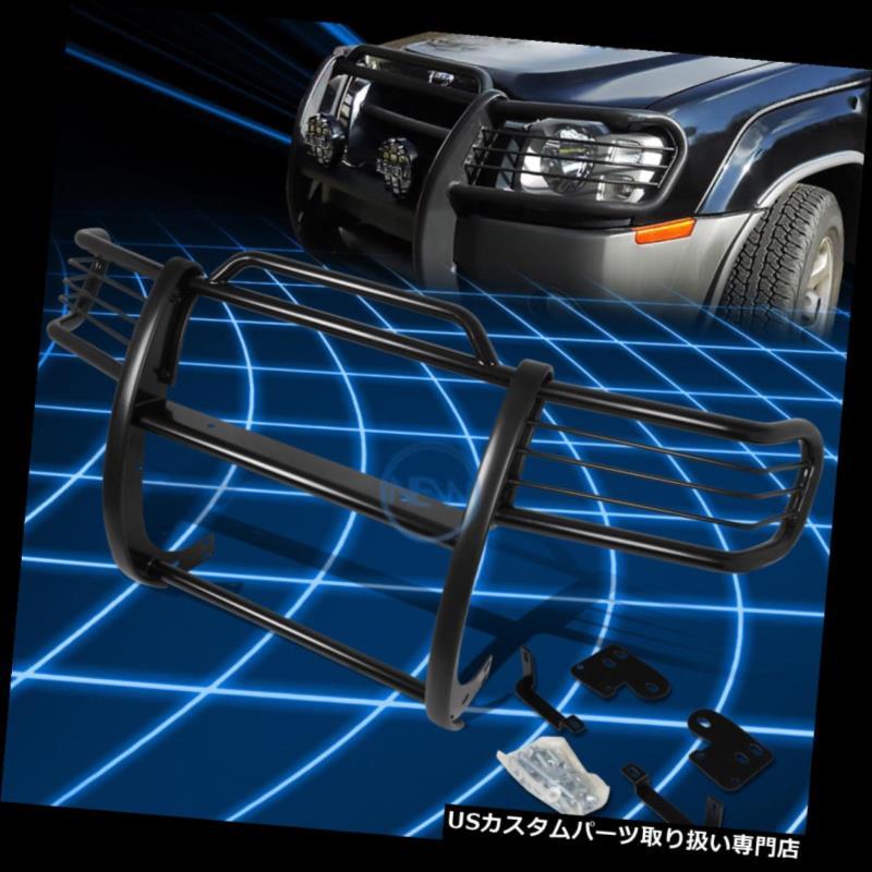 グリルガード 1998 - 2000年の日産フロンティア/ Xterra 用のブラックブラシバンパープロテクターグリルガード Black Brush Bumper Protector Grille Guard for 1998-2000 Nissan Frontier/Xterra