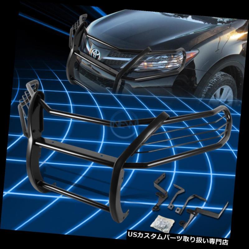 RAV4 Grille 5DR 5DR Black 2013-2017 for SUV RAV4 Protector XA40用ブラックブラシバンパープロテクターグリルガード Bumper グリルガード Guard 2013-2017 XA40 SUV Brush