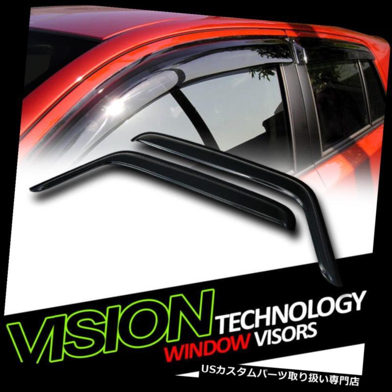 ベントバイザー ドアバイザー レインガード JDMレイン/ウィンドガードベントシェードデフレクターウィンドウバイザー2P 07-18ジープラングラーJK JDM Rain/Wind Guard Vent Shade Deflector Window Visors 2P 07-18 Jeep Wrangler JK