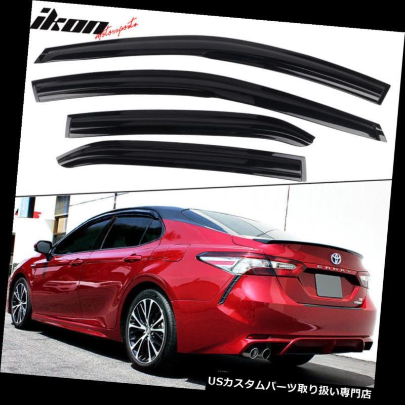ベントバイザー ドアバイザー レインガード 18-19トヨタカムリムゲンスタイルアクリルウィンドウバイザー4個セット Fits 18-19 Toyota Camry Mugen Style Acrylic Window Visors 4Pc Set