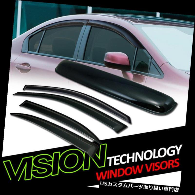 ベントバイザー ドアバイザー レインガード サンレインウィンドベントウィンドウバイザー+ Moonroo  fルーフデフレクター5Pc 13-15 Chevy Malibu Sun Rain Wind Vent Window Visors+Moonroof Roof Deflector 5Pc 13-15 Chevy Malibu