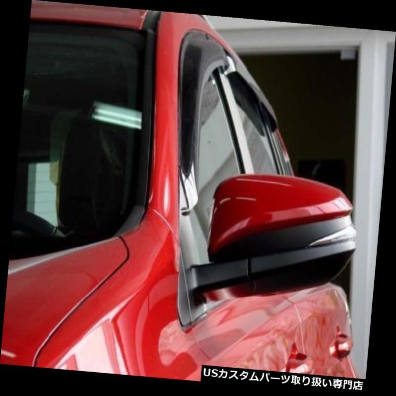 ベントバイザー ドアバイザー レインガード 13-18トヨタRAV4のアクリルの窓のバイザー4Pcに合います Fits 13-18 Toyota RAV4 Acrylic Window Visors 4Pc