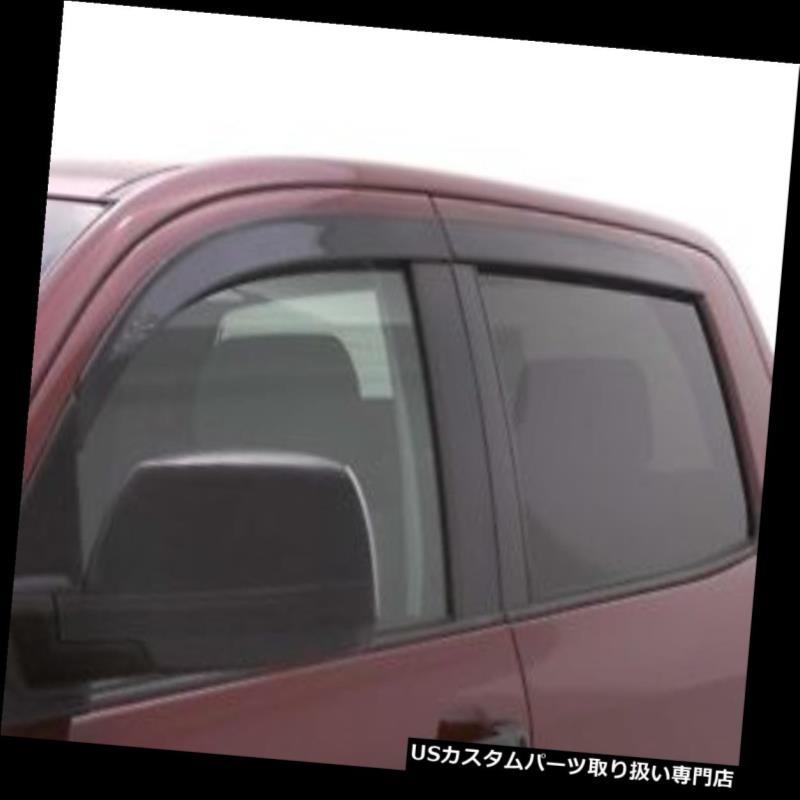 ベントバイザー ドアバイザー レインガード 自動Ventshade 894033 Ventvisor低プロ煙4Pc 14-15 Silverado 1500クルーキャブ Auto Ventshade 894033 Ventvisor Low-Pro Smoke 4Pc 14-15 Silverado 1500 Crew Cab