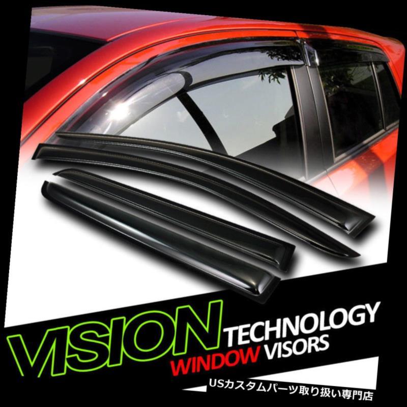 ベントバイザー ドアバイザー レインガード 雨/ウィンドガード08/09 +ダッジジャーニーのダークベントシェードディフレクターウィンドウバイザー Rain/Wind Guard Dark Vent Shade Deflector Window Visors For 08/09+ Dodge Journey