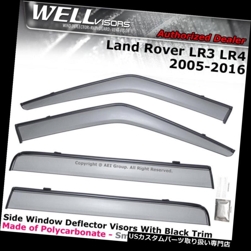 ベントバイザー ドアバイザー レインガード WELLvisorsウィンドウバイザーLand Rover LR3 LR4 05-16レインガードウィンドデフレクター WELLvisors Window Visors Land Rover LR3 LR4 05-16 Rain Guards Wind Deflectors