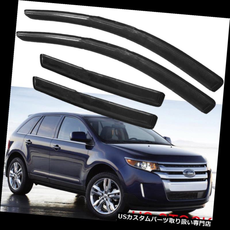 Chrome Side Door Window Visor Vent Deflector Sun Rain Guard Shield For Ford Edge