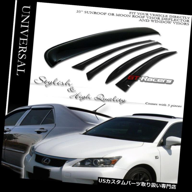 Auto Parts and Vehicles Smoke Sun Shade Vent Window Visors+Sunroof Moon Roof Guard 5Pc 03-08 Honda Pilot