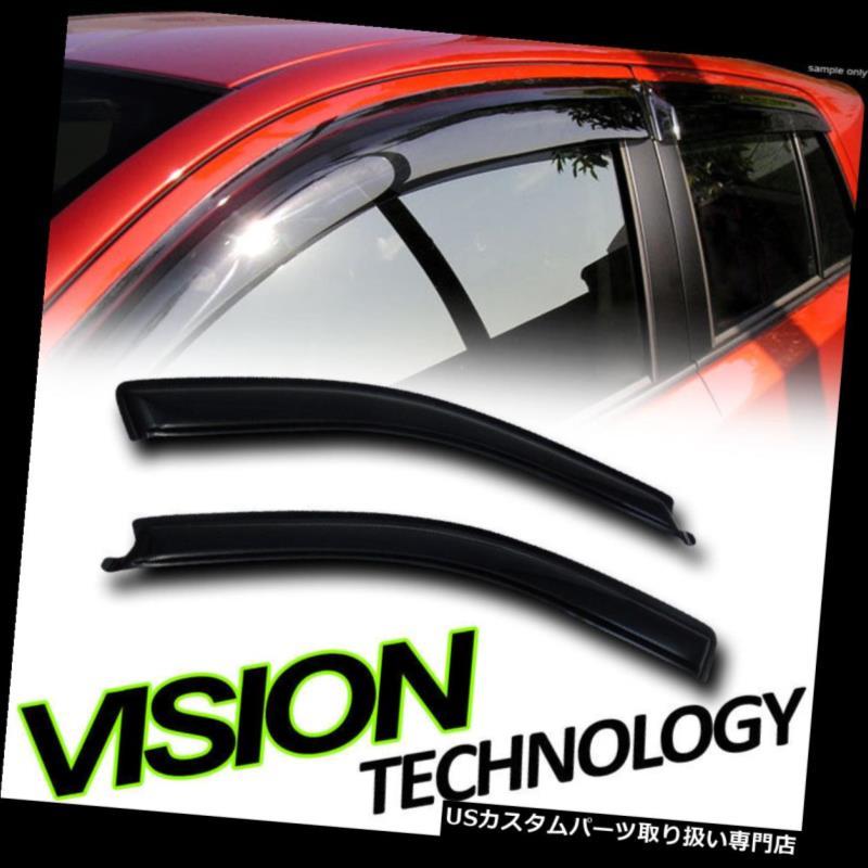 ベントバイザー ドアバイザー レインガード レイン/ウィンドスモークベントシェードデフレクタウィンドウバイザー2Pc 04-08 F150スタンダードキャブ Rain/Wind Smoke Vent Shade Deflectors Window Visors 2Pc 04-08 F150 Standard Cab