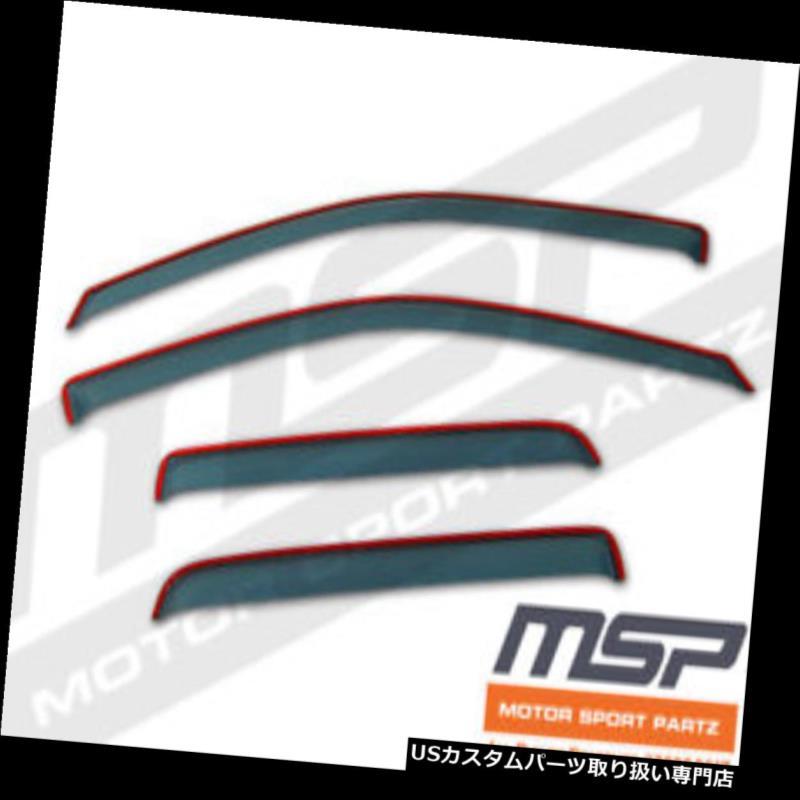 ベントバイザー ドアバイザー レインガード アッシュグレーインチャネルJDMベントバイザーデフレクター4本フォードレンジャーエクスターキャブ99-11 Ash Grey In-Channel JDM Vent Visors Deflector 4pcs Ford Ranger Ext Cab 99-11