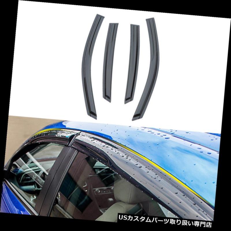 ベントバイザー ドアバイザー レインガード ホンダシビックセダン2016-2018用ベントウィンドウバイザー雨太陽風ディフレクター4ピース for Honda Civic Sedan 2016-2018 Vent Window Visors Rain Sun Wind Deflectors 4pcs