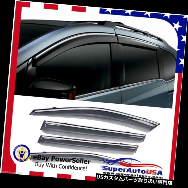 ベントバイザー ドアバイザー レインガード OEスタイルスモークウィンドウベントバイザーサンレインウィンドフィットホンダオデッセイ2011年-2017 OE Style Smoke Window Vent Visors Sun Rain Wind Fit Honda Odyssey 2011 -2017