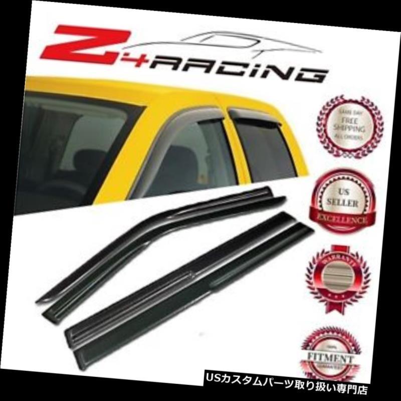 ベントバイザー ドアバイザー レインガード 2009-2017フォードフレックスMUカーブスタイルベントシェードガードウィンドウバイザーデフレクター For 2009-2017 Ford Flex MU Curved Style Vent Shade Guard Window Visors Deflector