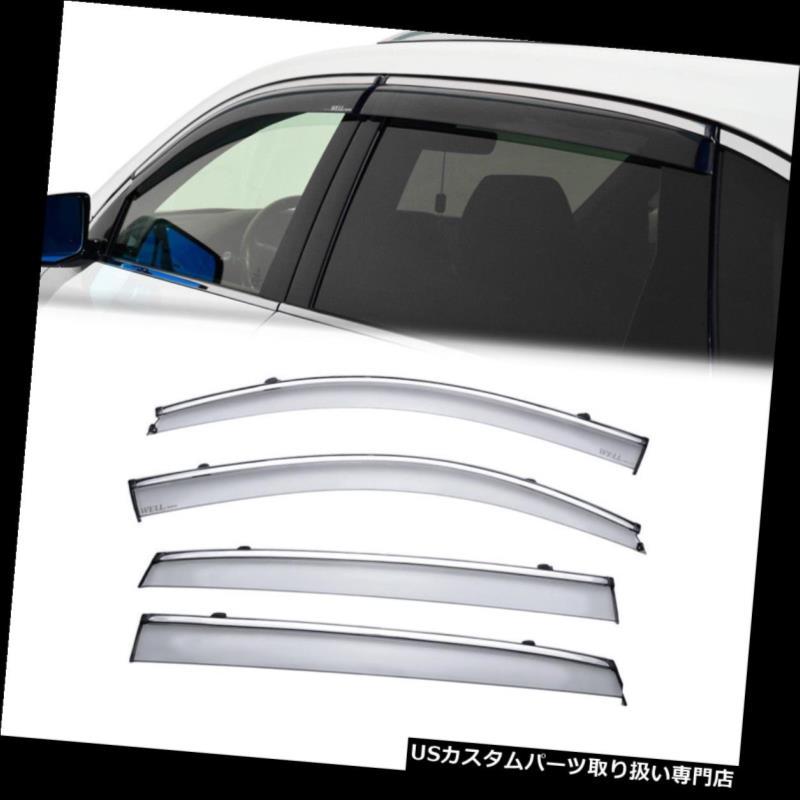ベントバイザー ドアバイザー レインガード Acura MDX 14-18クロームトリム用[クリップON]サイドウィンドウベントバイザーレインガード4PC For Acura MDX 14-18 Chrome Trim[Clip ON]Side Window Vent Visor Rain Guard 4PC