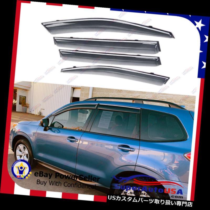 ベントバイザー ドアバイザー レインガード スバルフォレスター2014-18 OEスタイルウィンドウベントバイザーサンレインウィンドディフレクター用 for Subaru Forester 2014-18 OE Style Window Vent Visor Sun Rain Wind Deflectors