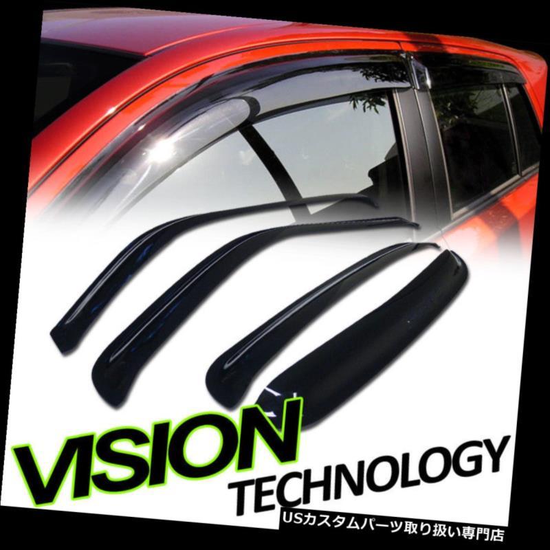 ベントバイザー ドアバイザー レインガード レイン/ウィンドガードベントシェードデフレクターウィンドウバイザー01-06 / 07シボレーシルバラードクルー Rain/Wind Guard Vent Shade Deflector Window Visors 01-06/07 Chevy Silverado Crew